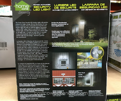 Costco 962680 - Home Zone Security LED Motion Light - Sleek, contemporary design fits anywhere you need it