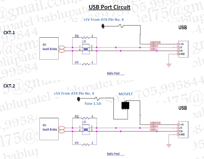 usb motherboard diagram wiring schematic diagrambablu notes usb port circuit  diagram and its problem in desktop