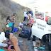 Van de Santa Quitéria colide contra caminhão na CE-257; Duas vítimas fatais e vários feridos