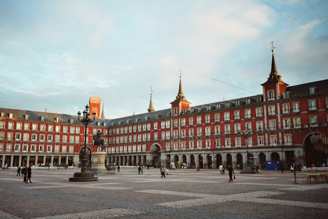 La Plaza Mayor en Madrid