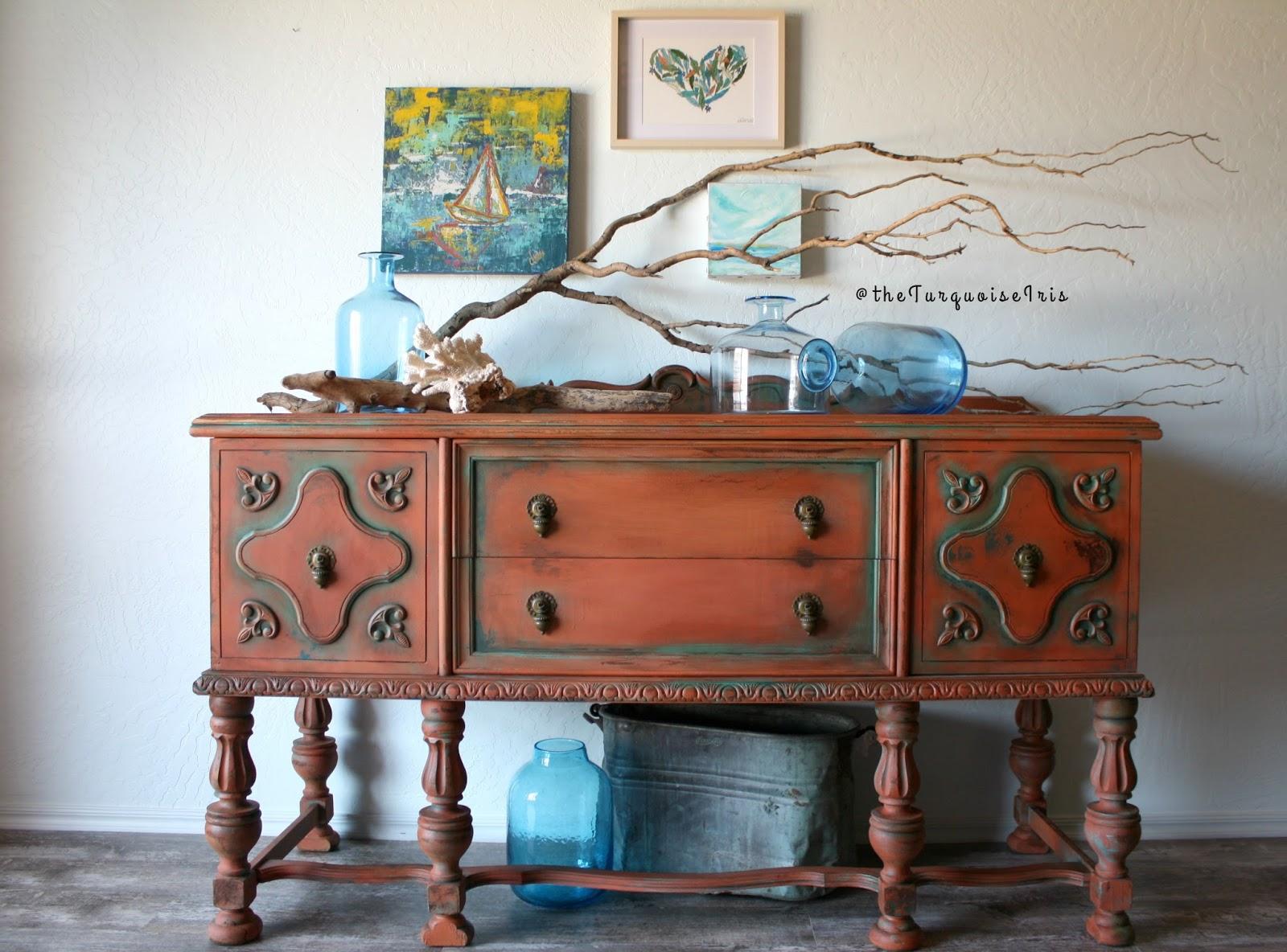 Wonderful Hand Painted Buffet Furniture Er99 Roccommunity