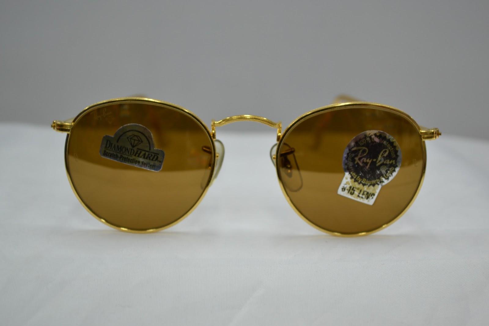 ca72b308661 Vintage Ray Ban diamond Hard Round sunglass! lennon style NOS 90´s