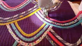 Bias tape quilt using Michael Miller Our Yard fabrics