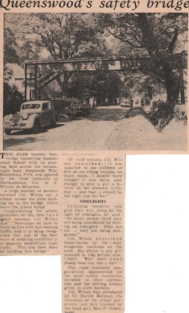 Image: Barnet Press Cutting 1961 Image courtesy Dr Wendy Bird, Archivist at Queenswood School