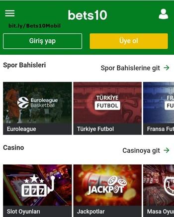 Bets10 Mobil Bahis Sitesi