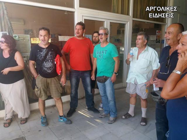 Επεισόδια και προσαγωγές στο Άργος μελών του κινήματος κατά των πλειστηριασμών (BINTEO)