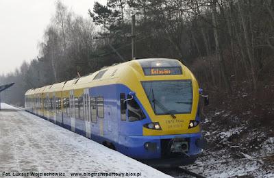 Pociąg FLIRT na stacji Tychy Miasto