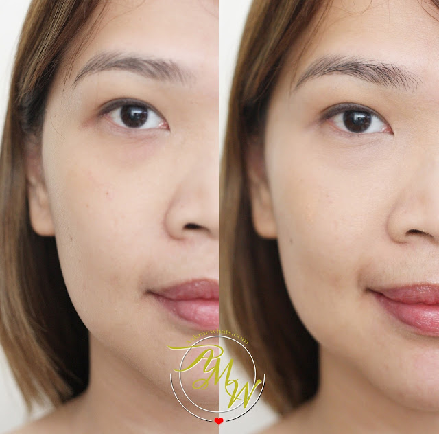 a before and after photo of Deborah Milano Dress Me Perfect Fluid Concealer