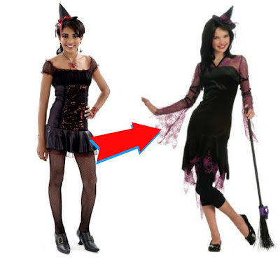 modest teen witch costume