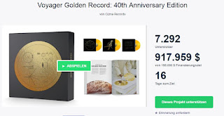 Voyager 2 Kickstarter golden record schallplatte