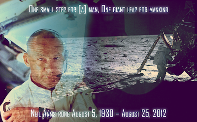 Neil Alden Armstrong (August 5, 1930 – August 25, 2012) was an American NASA astronaut, test pilot, aerospace engineer, university professor, United States Naval Aviator, and the first person to set foot upon the Moon.
