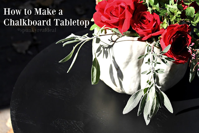 How to Make a Chalkboard Tabletop