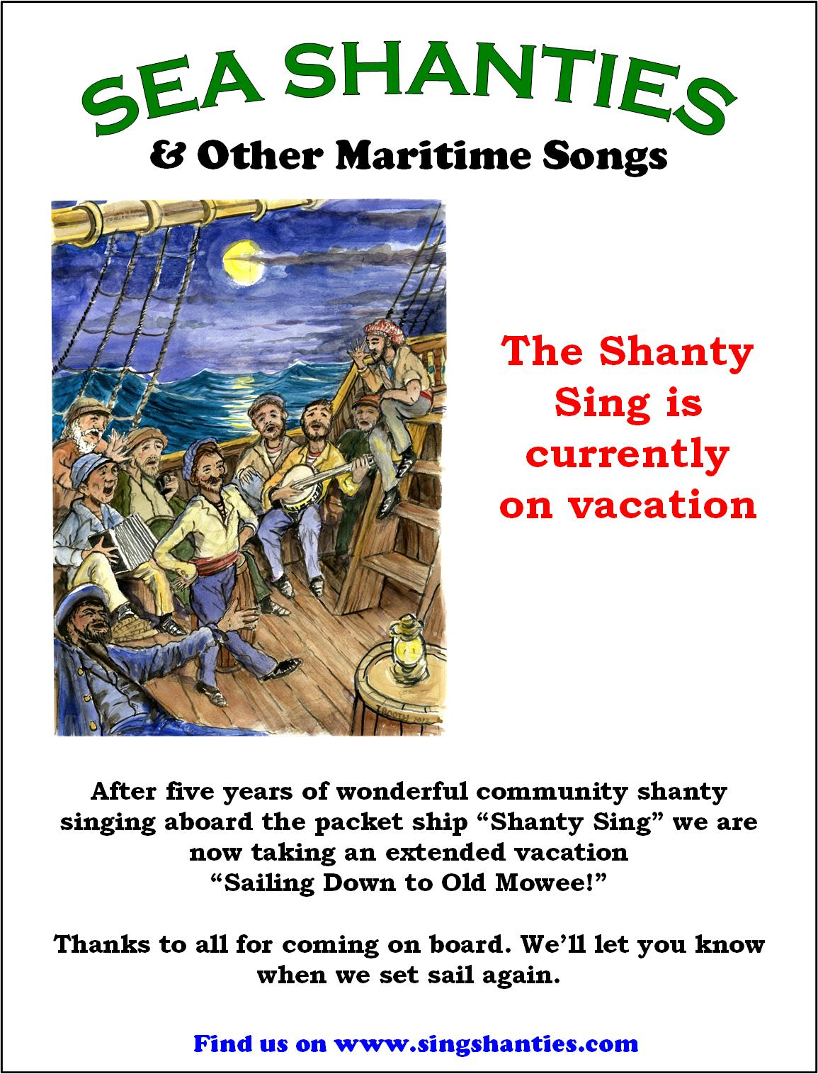 Sing Shanties: The Shanty Sing goes on vacation