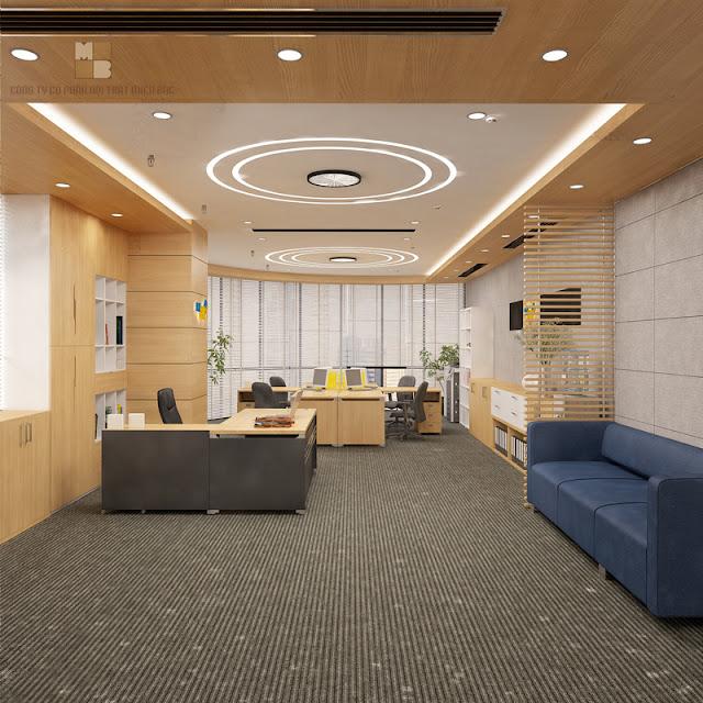 Thiết kế nội thất phòng làm việc đẹp ngân hàng PVcombank - H2