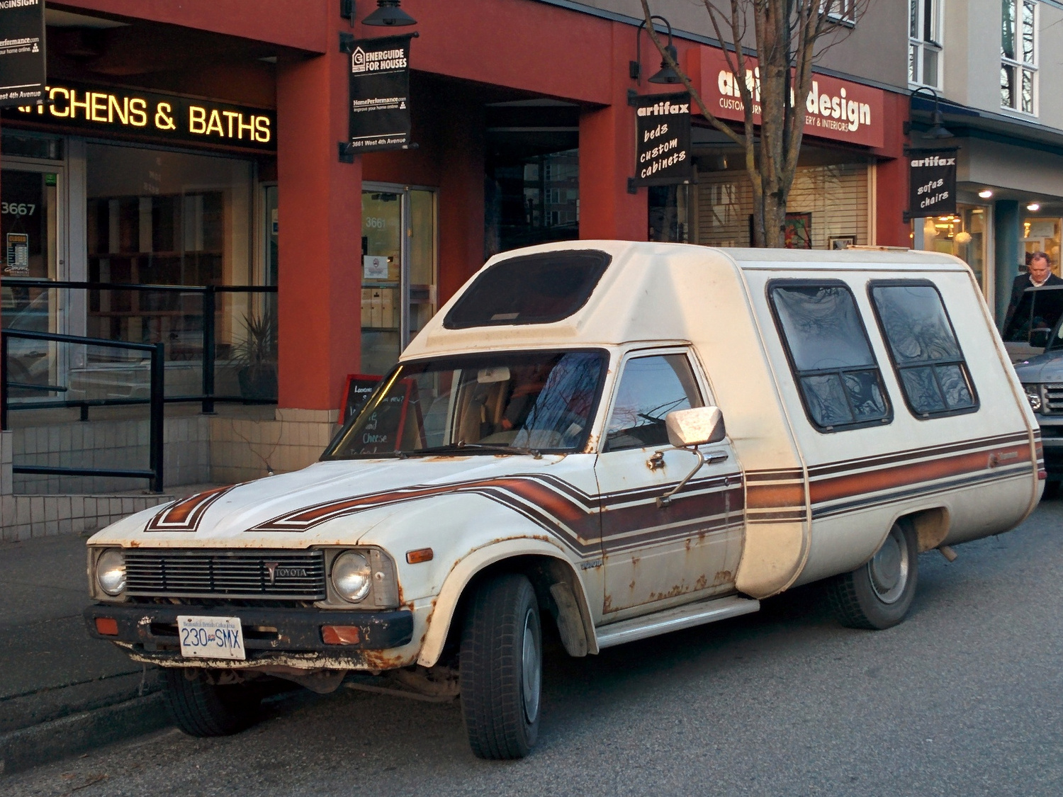 Old Parked Cars Vancouver: 1981 Toyota Vanguard Camper Conversion
