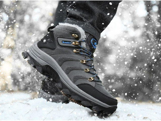 Men's Plush Warm Winter Hiking Boots