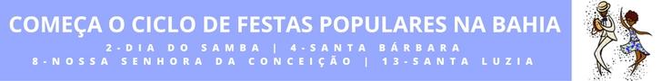 Calendário das festas populares de Salvador 2016/17