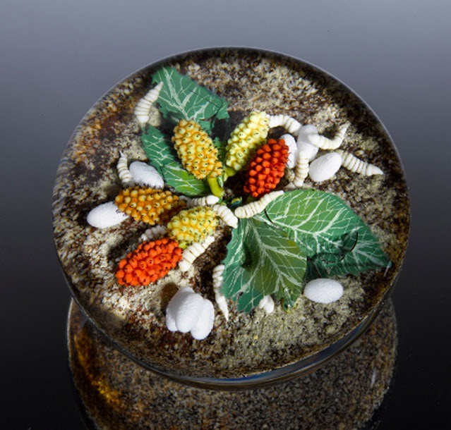 Художник по стеклу David Graeber и его невероятные пресс-папье, цветочный декор,