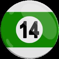 fourteen of strips pool ball