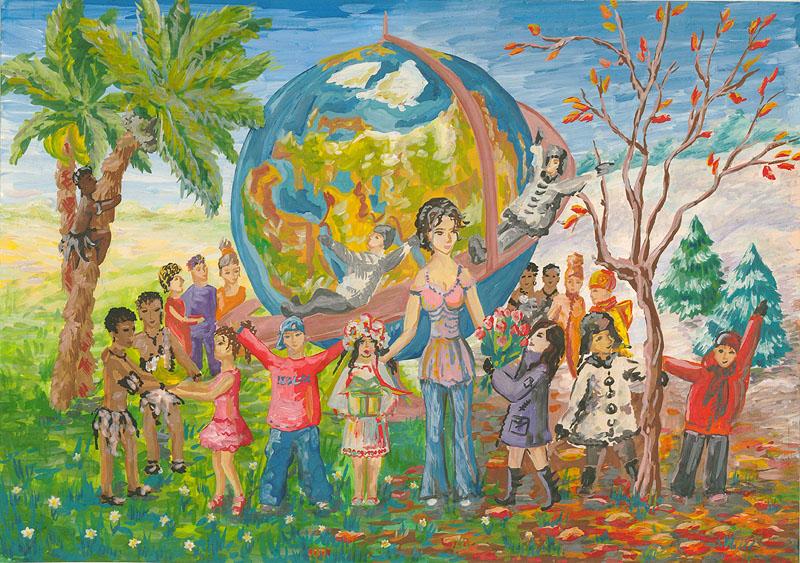 Детские картинки мир