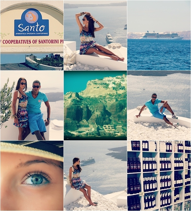 Santorini vacation last day travel photos