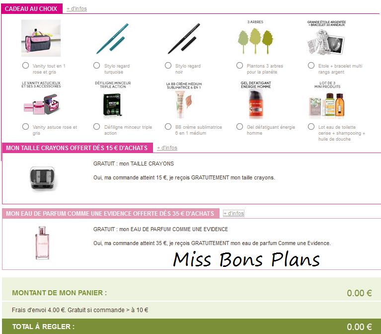 Miss Bons Plans Offres Courrier Yves Rocher Avec Cadeaux Gratuits