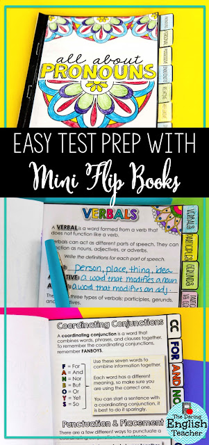 Using mini flip books in the middle school and high school ELA classroom for instruction, review, and test prep