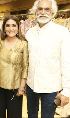 Reynu Taandon with Sunil Sethi