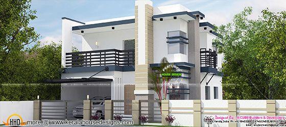 1900 square feet modern 4 BHK home