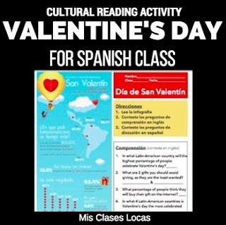 Lista lunes: Valentine's Day in Spanish class