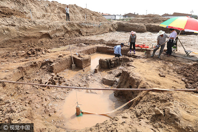 Ancient tomb discovered at construction site in N China
