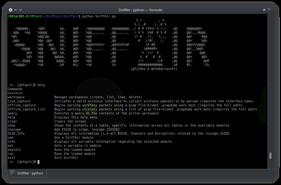SniffAir - A Framework For Wireless Pentesting