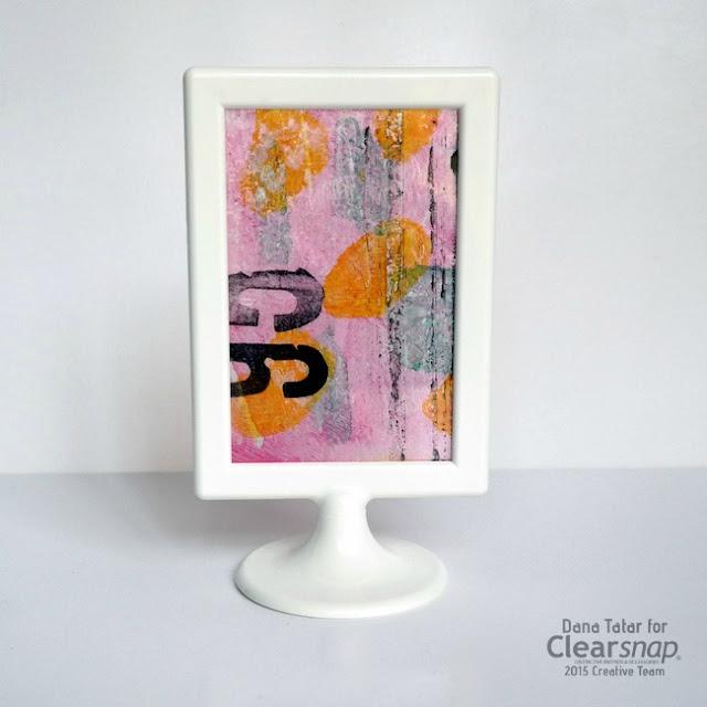 Framed Izink Monoprint by Dana Tatar