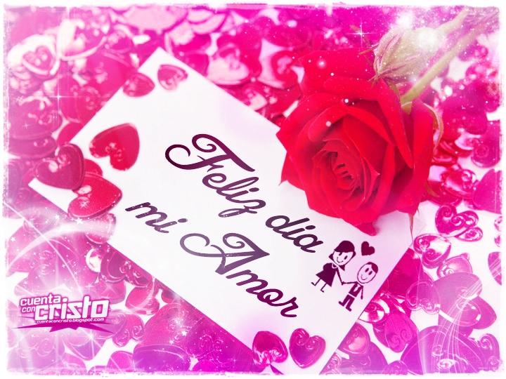 Feliz Dia Con Todo El Amor Tarjetas Con Flores Y Frases