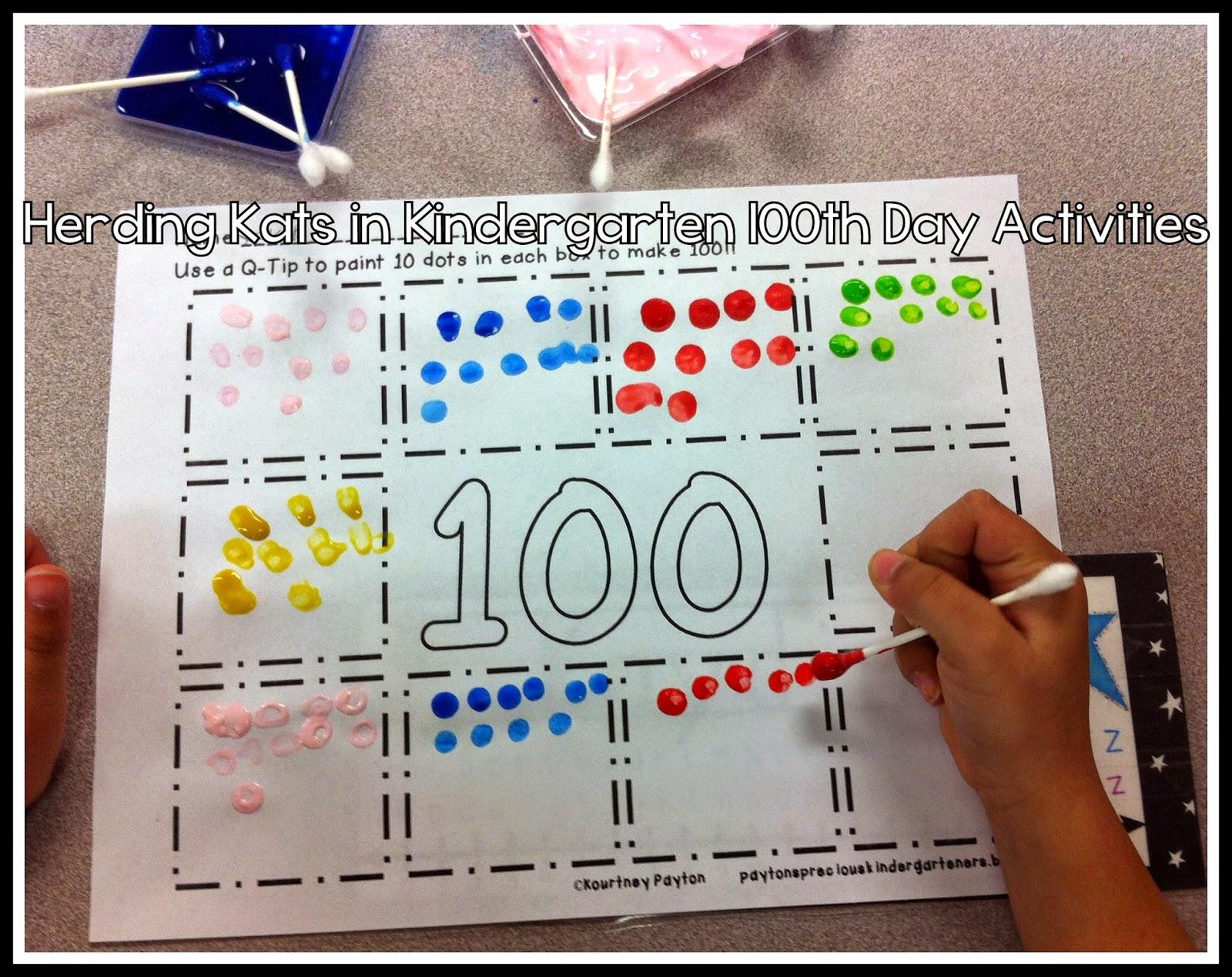 Herding Kats In Kindergarten 100th Day In Pre K