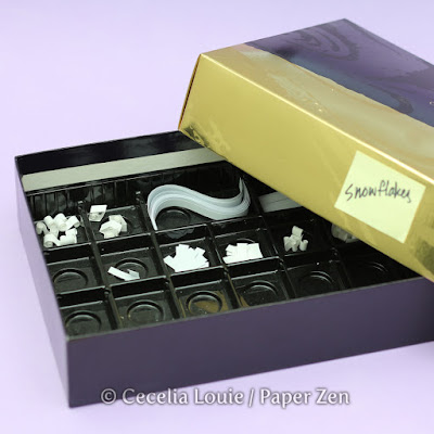 Divided Chocolate Box for Quilling Snowflakes