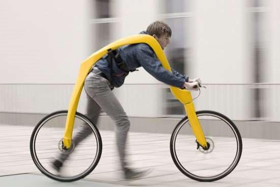 Invenções mais interessantes do mundo - Bicicleta grua sem pedais