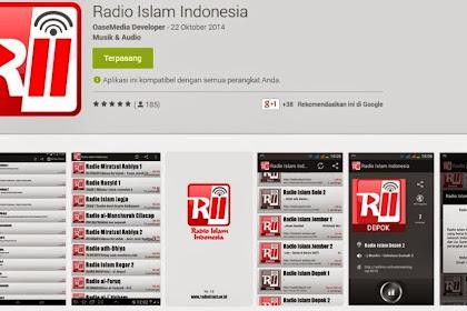 Aplikasi Android Radio Islam Indonesia