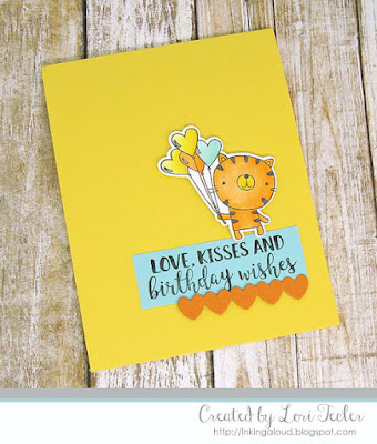 Love, Kisses, and Birthday Wishes card-designed by Lori Tecler/Inking Aloud-stamps and dies from Reverse Confetti
