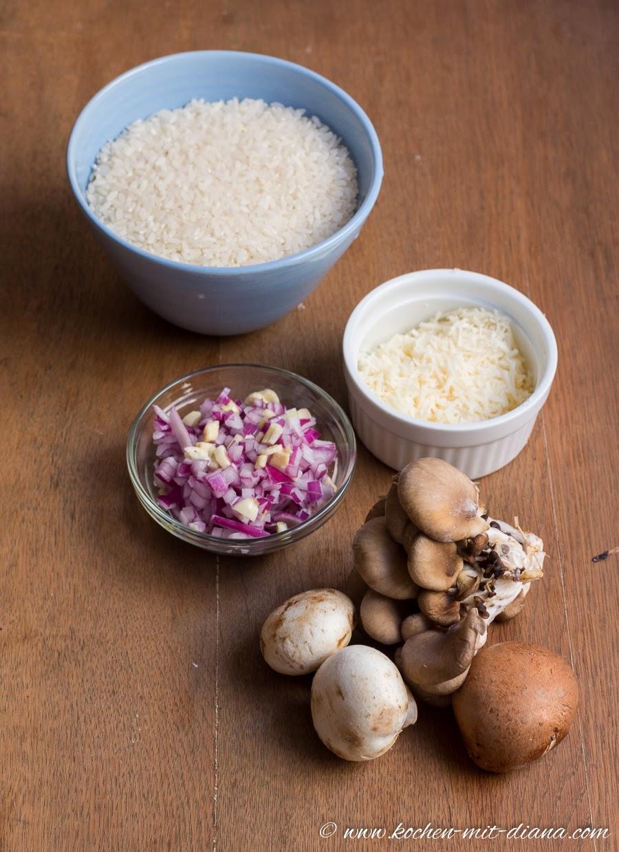 Zutaten Risotto mit Pilzen
