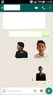 stiker whatsapp dengan foto sendiri