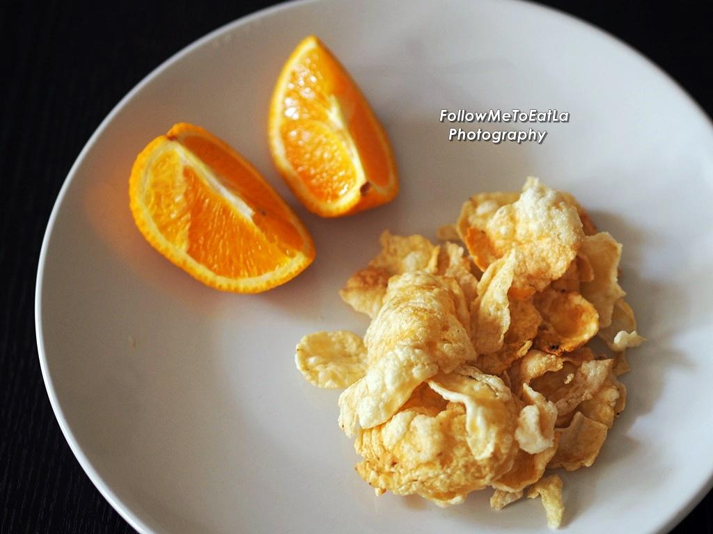 Follow Me To Eat La Malaysian Food Blog Yuk Bebek Authentic Kripik Melinjo Emping Orange For Dessert