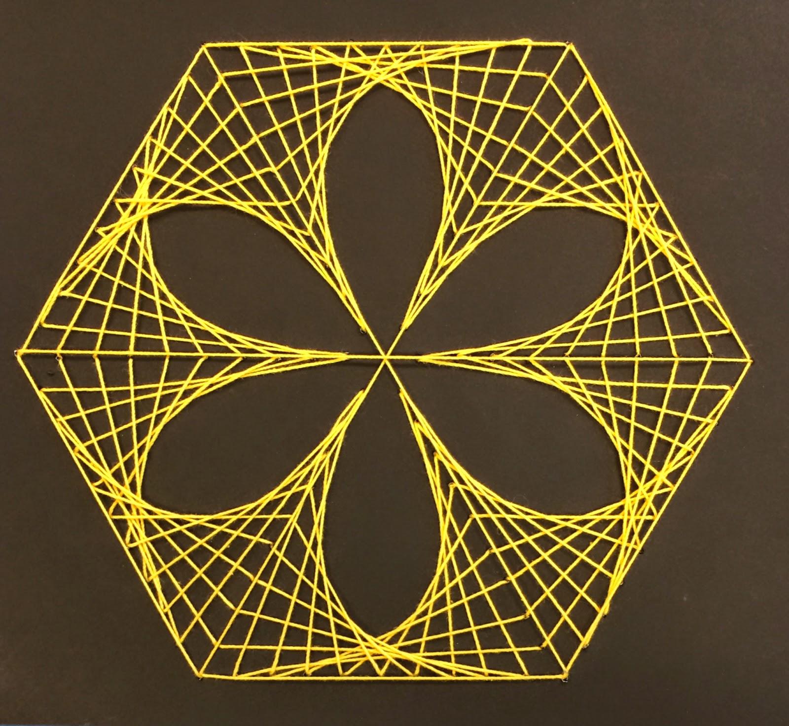 Art Paper Scissors Glue Mathematic String Art