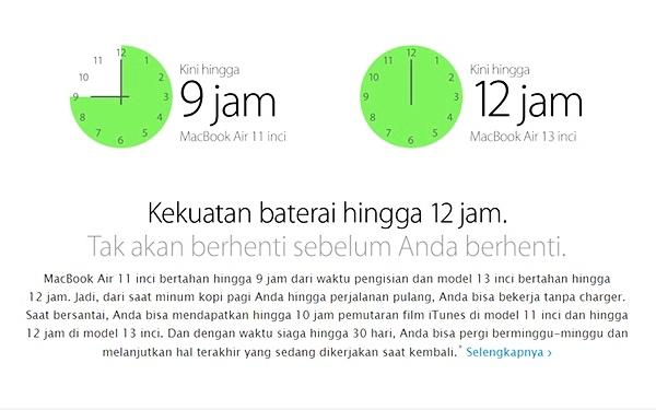 Baterai Apple MacBook Air MMGF2