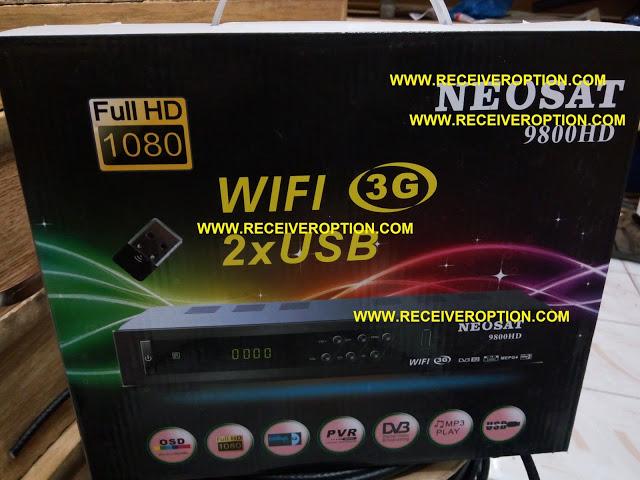 NEOSAT 9800 HD RECEIVER CLINE CONNECT PROBLEM SOFTWARE