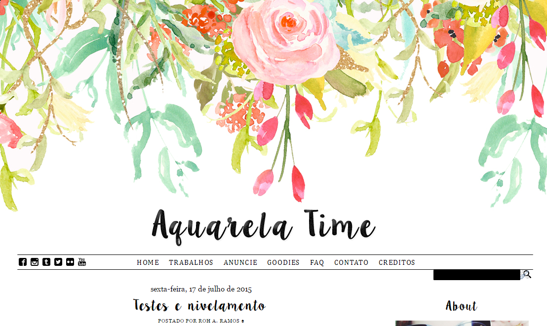 Layout Free Aquarela para blogger