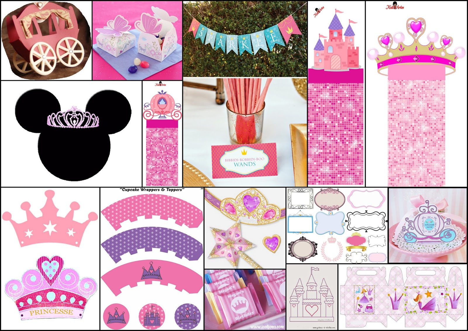 Quinceanera Party Princess Themed Free Printables, Party