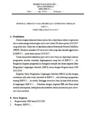 Proposal Kegiatan Mpls Untuk Smp Guru Loyal