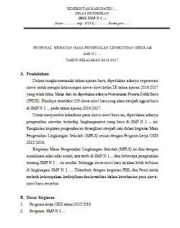 proposal kegiatan mpls smp