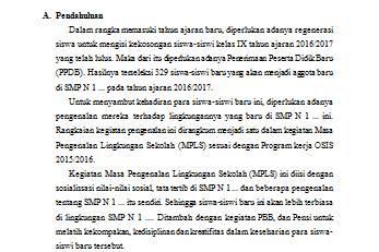Proposal Kegiatan MPLS (untuk SMP)